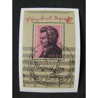 ГДР 1981 225 лет со дня рождения В. А. Моцарта со спецгашением (А)