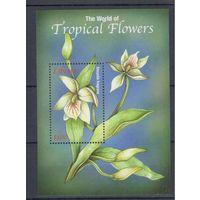 [1530] Либерия 2001. Флора.Цветы.Орхидеи. БЛОК.