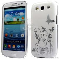 Чехол для мобильного телефона SAMSUNG GALAXY S3 i9300, модель: WHITE BUTTERFLY HARD CASE