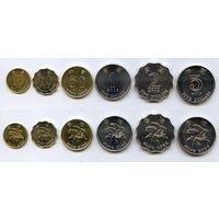 Гонконг набор 6 монет 1998-2015