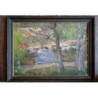 "Картина Леонарда Шиленкова: ""на Клязьменском водохранилище"". 1997г. Распродажа!!!"