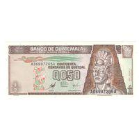 Гватемала 0,5 кетцеля 1998 года. Нечастая! Состояние UNC! (3)
