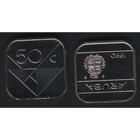Аруба _km4 50 центов 1990 год (ba) (b06)
