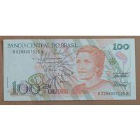 100 Крузейро 1989 года - Бразилия - UNC