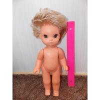 Кукла ГДР кареглазая, полностью резиновая