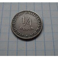Португальская Индия 1/4 рупии 1947