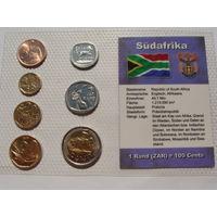 Южно Африканская Республика. набор 7 монет 5, 10, 20, 50 центов 1, 2, 5 рандов 2002-2011 год UNC