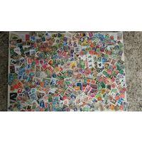 700 марок с повреждениями