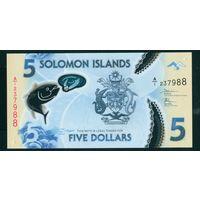 Соломоны 5 dollars 2019 UNC