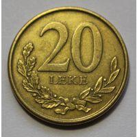 Албания 20 лек 2012 г.