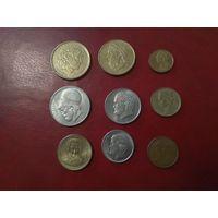 Греция набор 9 монет портреты