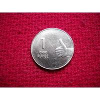 Индия 1 рупия 2009 г.