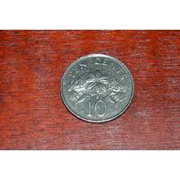 Сингапур 10 центов 1986
