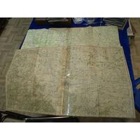 Две старые карты Барановичской области БССР вместе.