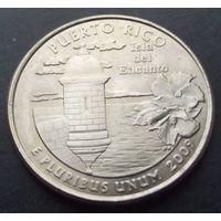 США. 25 центов 2009. Puerto rico /P/