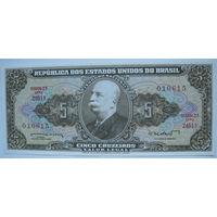 Бразилия 5 крузейро 1964 г.