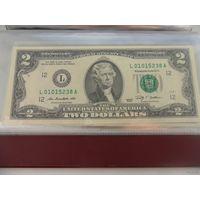 2 доллара США 2009 г.в. L01015238A