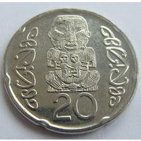 Новая Зеландия 20 центов 2014 г