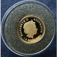 Австралия. 4 доллара 2006. Пруф. Золото. 1