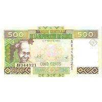 YS: Гвинея, 500 франков 2017, P# 39c, UNC
