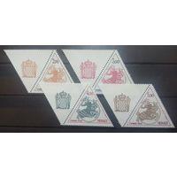 Монако герб княжества 4 марочки с купоном