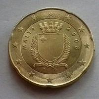 20 евроцентов, Мальта 2008 г., UNC