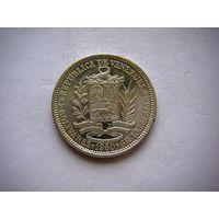 Венесуэла 2 Боливара=10грамм 1960 г. серебро AU/UNC