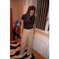 Шикарные брюки из льна известной фирмы р. 38