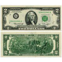 США. 2 доллара (образца 1976 года, G, Иллинойс, P461)