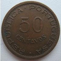 Гвинея Португальская (Гвинея-Биссау) 50 сентаво 1952 г.