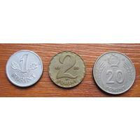Венгрия. Набор монет. Форинты