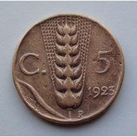 Италия 5 чентезимо. 1923