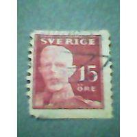 Швеция. Король Густав 5. 1920г. ;гашеная