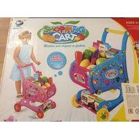 """Игровой набор """"Тележка с продуктами"""".  Новый.  Предлагает ребенку проявить фантазию и отправиться за покупками в супермаркет. Комплект включает в себя креативную тележку, выполненную из пластмассы"""
