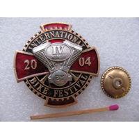 Знак. 4 Международный байкерский слёт г. Минск, 2004 г. тяжёлый, винт, накладной