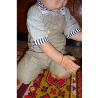 Шортики на лямках/ песочник, рост 68-74-80 см