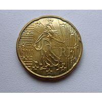 20 центов Франция 2010 г. в. UNC