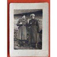 Фото двух военных. 6.5х9 см.