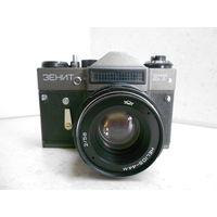 Фотоаппарат Зенит-ЕТ 1991 г. с объективом Гелиос-44М в полной готовности