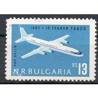 15-летие Болгарского гражданского воздушного флота (ТАБСО) Болгария 1962 год серия из 1 марки