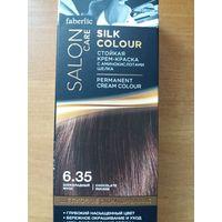 Стойкая крем-краска для волос Шелковое окрашивание, тон 6.35. Шоколадный мусс