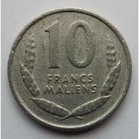 """Мали 10 франков 1961 """"Лошадь"""""""