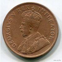 Южная Африка, 1 пенни 1934, редкая
