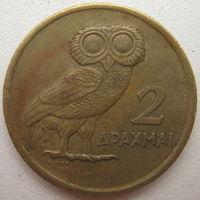 Греция 2 драхмы 1973 г. (d)