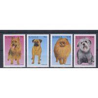 [1580] Сент-Винсент и Гренадины 1998. Фауна.Собаки. 4 МАРКИ+2 БЛОКА.