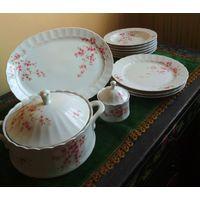 Старинная посуда сервиз набор комплект высококачественный фарфор ESCHENBACH Bavaria Бавария Германия