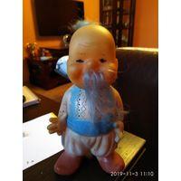 Детская игрушка из резины кукла Удалой Казак СССР.