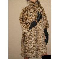 Эксклюзив. Гламурная шубка из натурального меха карликового леопарда (оцелота), 46-48-50 размер.