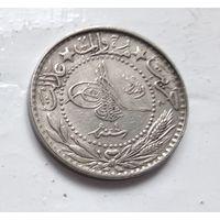 """Османская империя 20 пар, 1327 (1909) цифра """"E"""" (4) 5-2-7"""