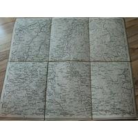 Оригинальная карта территорий: Столин(Беларусь)-Колки(Украина) 1874г.г.